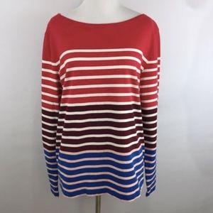 J Crew Boatneck Striped Shirt